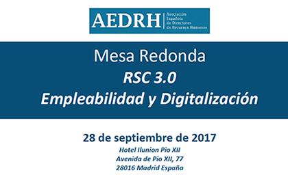 """People Excellence patrocina la Mesa Redonda """"RSC 3.0 Empleabilidad y Digitalización"""""""